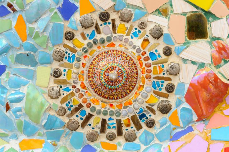 Download Mosaic Ceramic Abstract Wall In Wat Phasornkaew Thai Temple. Stock Photo - Image: 31551132
