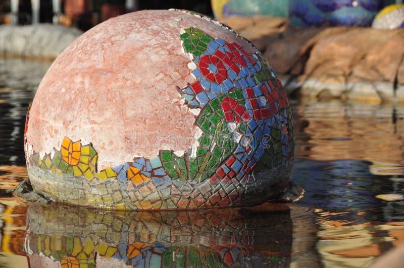 Mosaic Ceramic Tile Sphere royalty free stock image