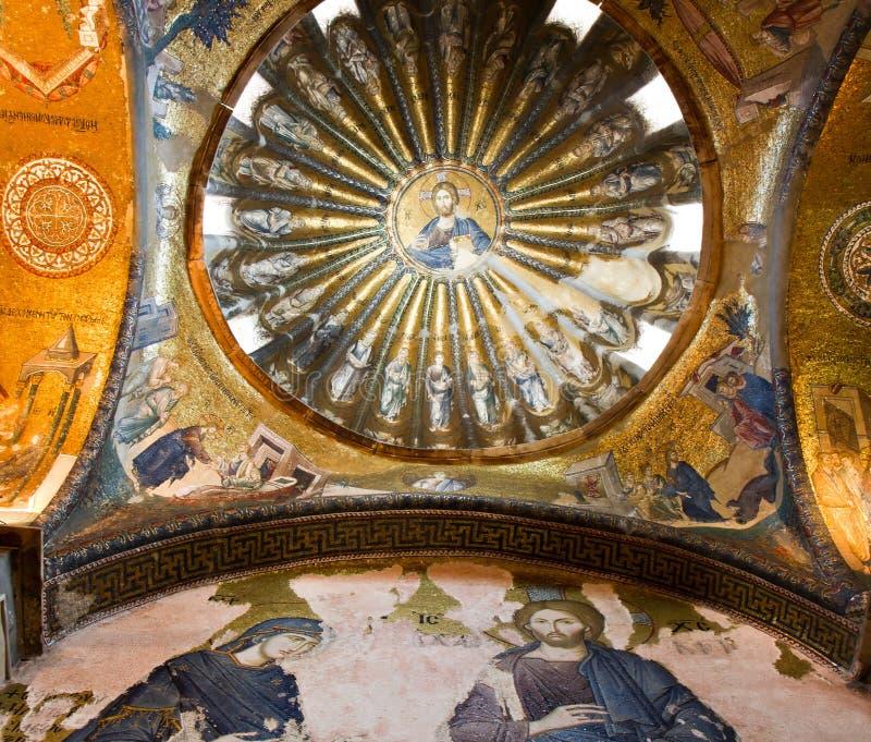 Mosaic of the Chora church. Istanbul, Turkey royalty free stock photos