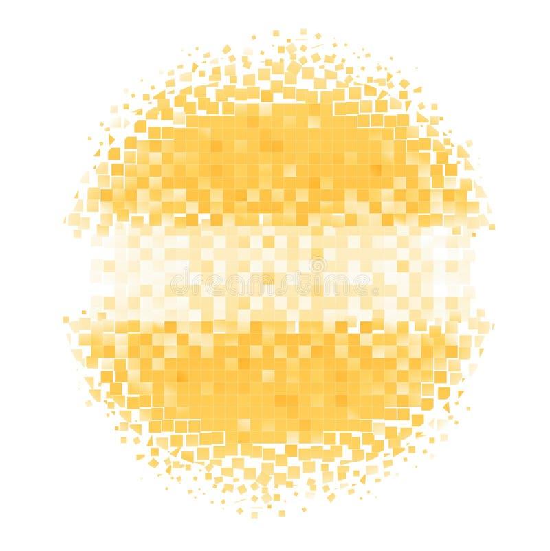 Mosaic circle royalty free illustration