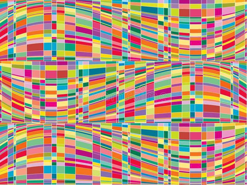 Mosaic color matrix op art stock illustration