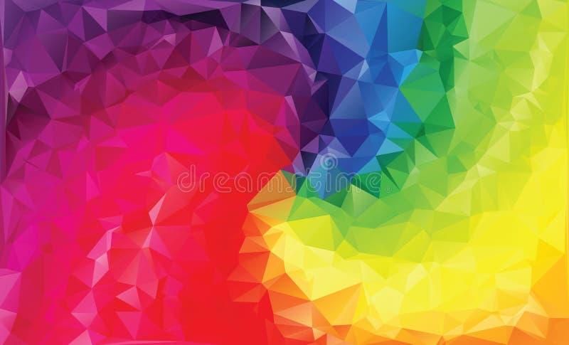 Mosaic colorful background. Rainbow colorful geometric illustration stock illustration