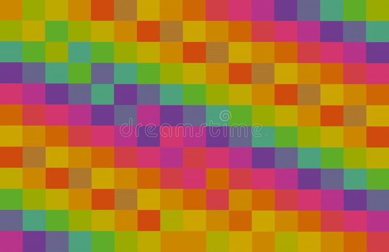 Mosaic colorful square abstract background contrast blocks pink yellow green violet red canvas row pattern base royalty free stock photos
