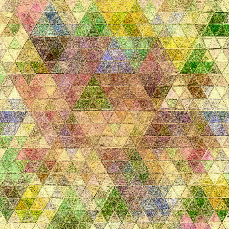 Mosaic of colorful triangles in modern style. Background pattern stock illustration