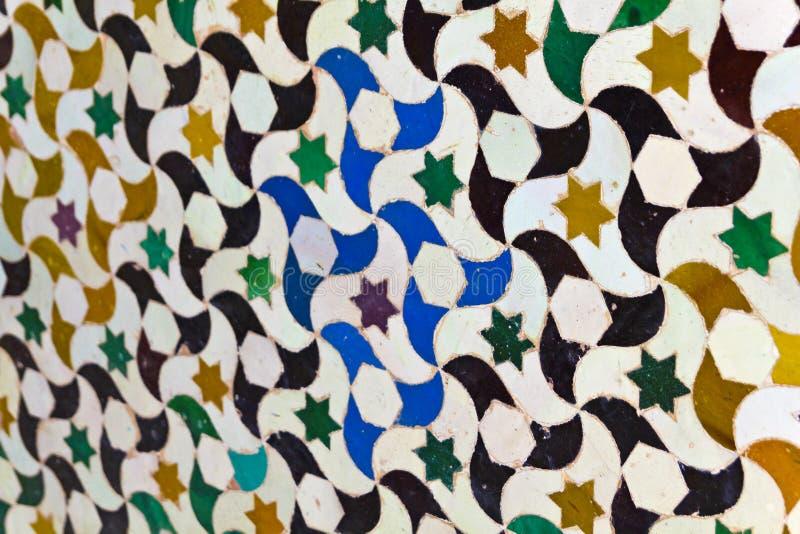 Mosaic of courtyard of Machuca. Alhambra, Granada stock photography