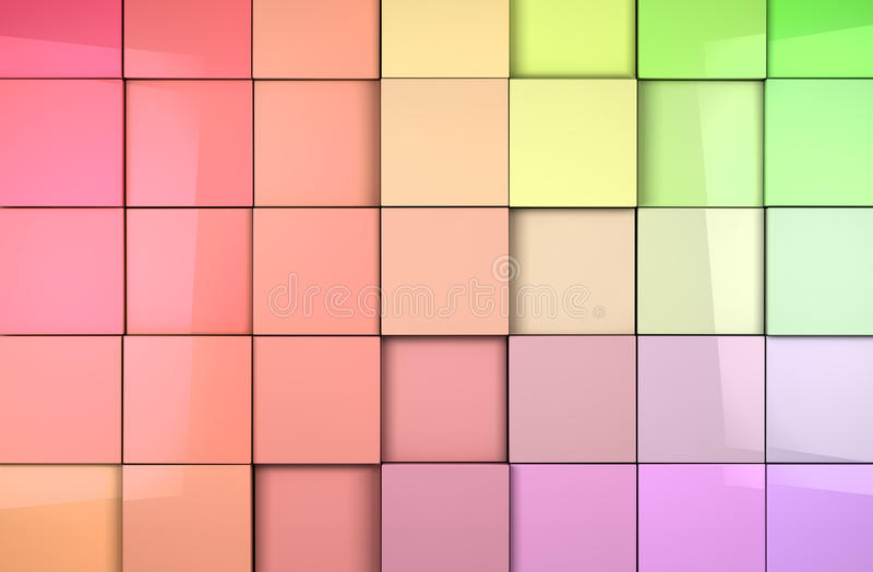 Download Mosaic cubes background stock illustration. Image of background - 25880095