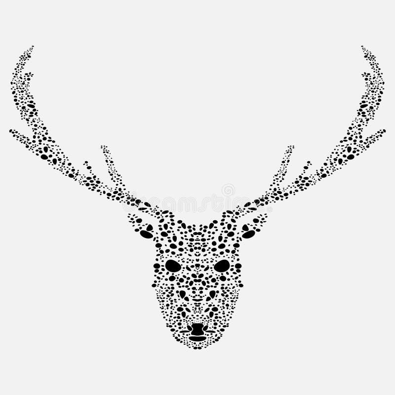 Mosaic deer royalty free illustration