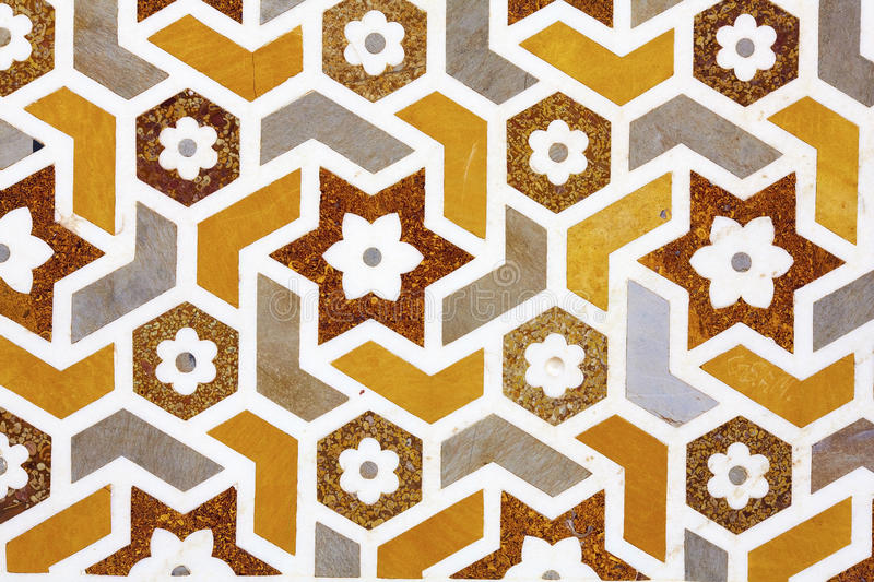 Mosaic detail of marble and stones shapes royalty free stock image