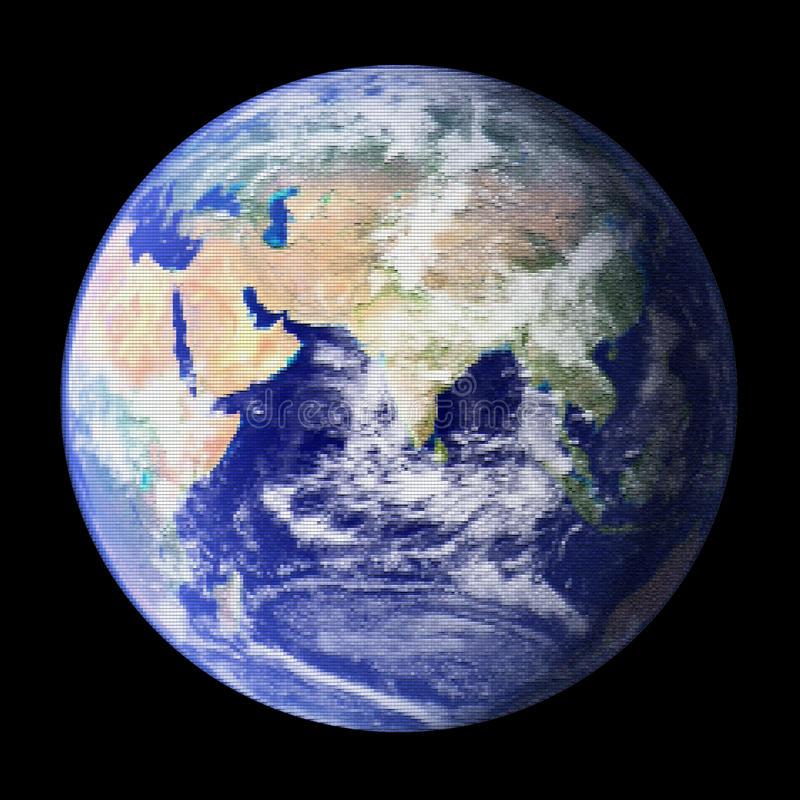 Download Mosaic of the Earth stock image. Image of illustrations - 10419977