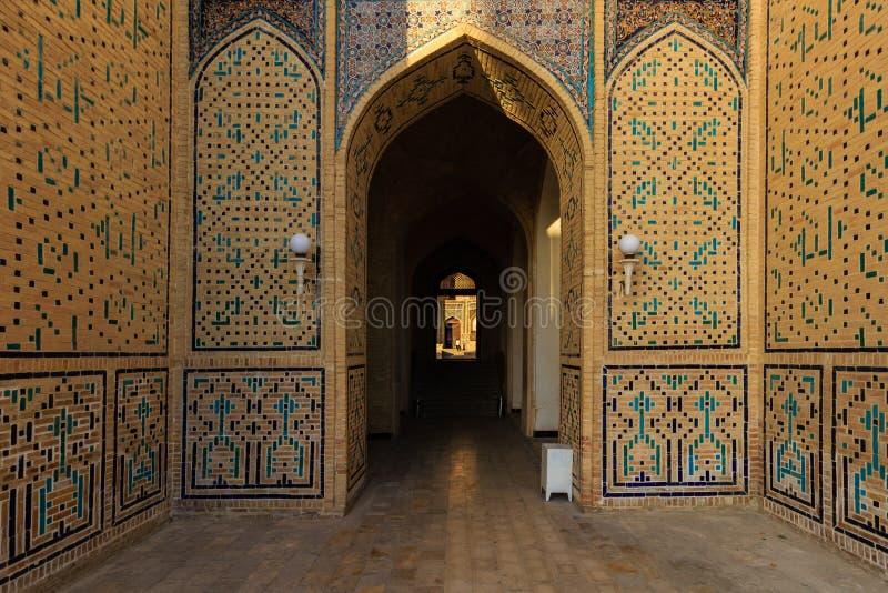 Mosaic at the entrance to the mosque Kolon, Bukhara, Uzbekistan stock photo