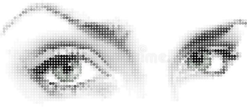 Mosaic_eyes royalty free illustration