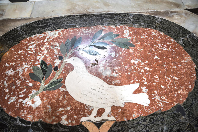 Mosaic floor in the Basilica of St John Lateran in Rome Italy stock photography