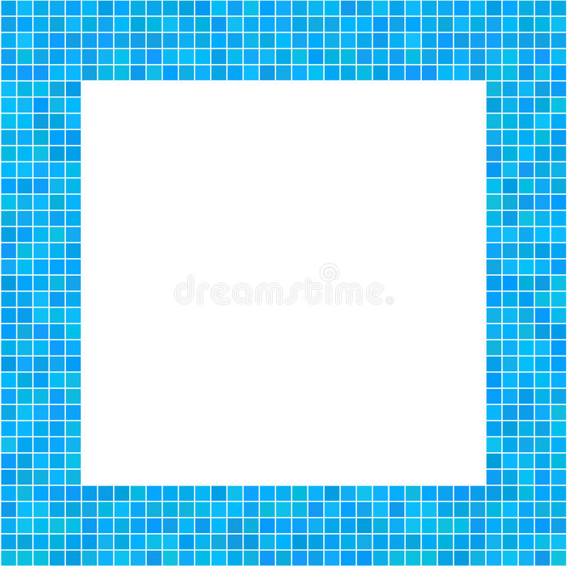 Mosaic Frame Blue. For your design stock illustration