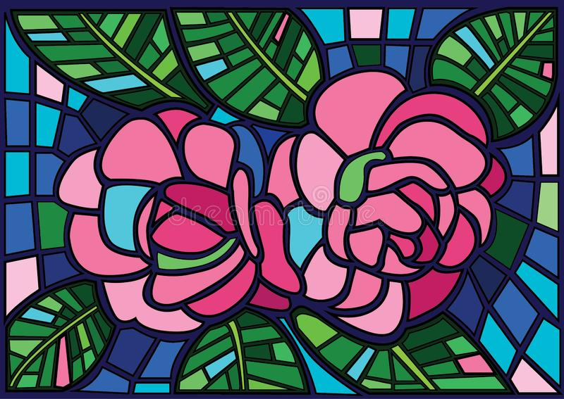 Candle flower moses Stained glass illustration  royalty free illustration