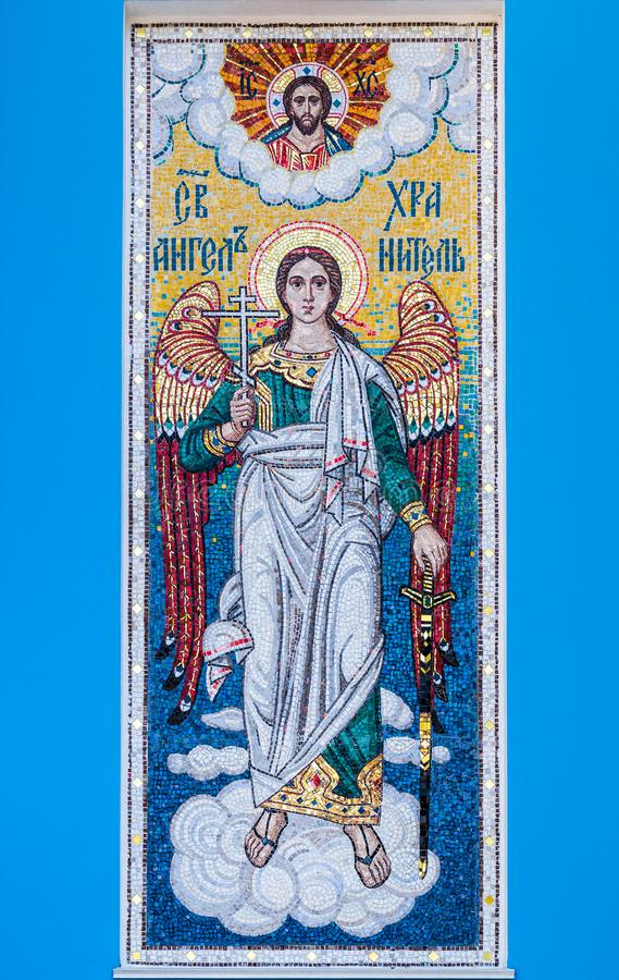 Mosaic of holy guardian angel royalty free stock images