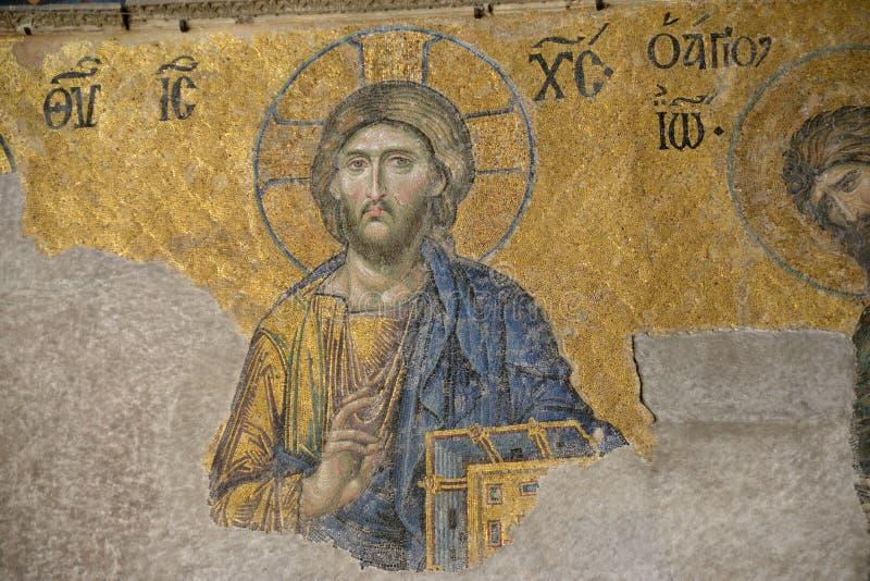 Mosaic of Jesus Christ stock image