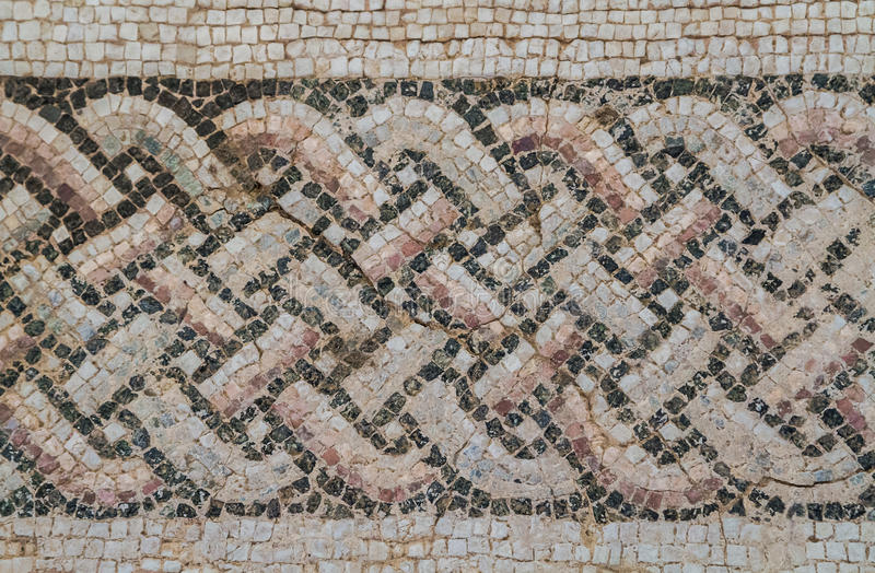 Mosaic in Kourion, Cyprus. Mosaic in the House of Eustolios in ancient city Kourion, Cyprus royalty free stock photo