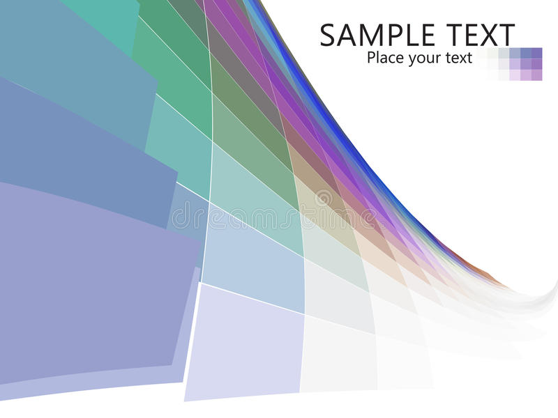 Mosaic Line Wave Effect Stock Photography