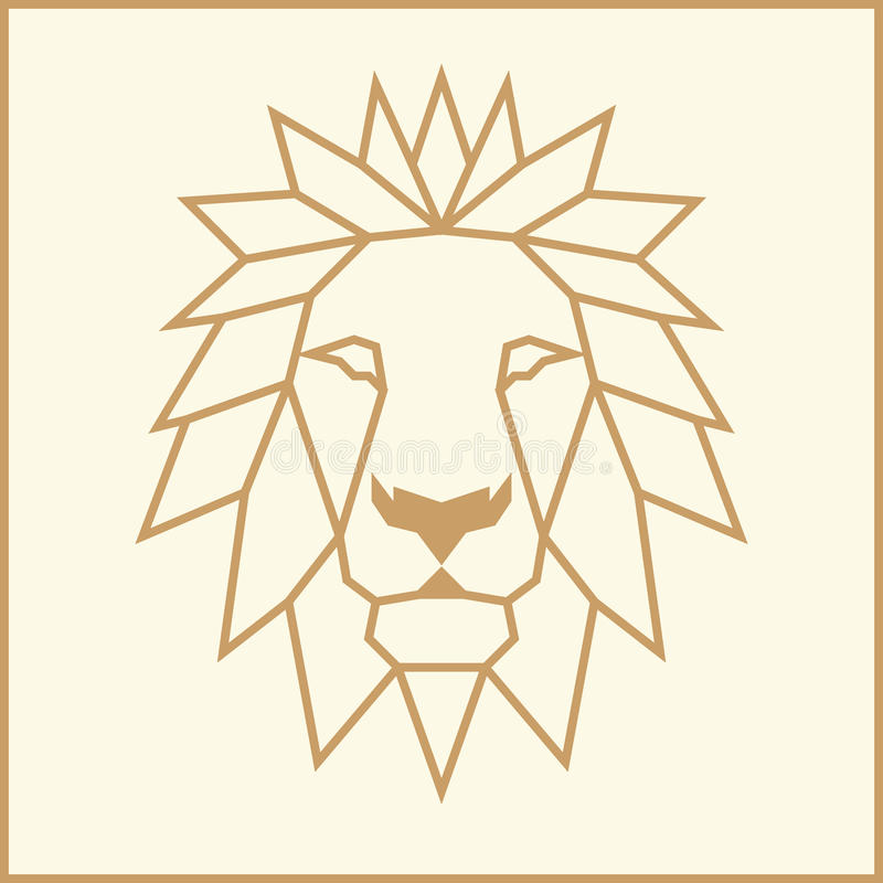Mosaic low poly Lion. Abstract mosaic low poly Lion face vector illustration