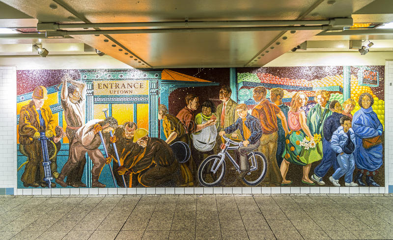 Download Mosaic Made Of Tiles At The Wall In Station Times Square Editorial  Stock Photo   Part 92