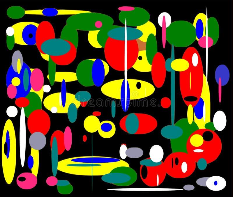 Mosaic matryoshka, abstraction. stock illustration