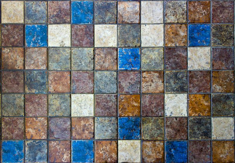 Mosaic Of Natural Stone Travertine Marble Sandstone And Granite - Blue travertine natural stone tiles