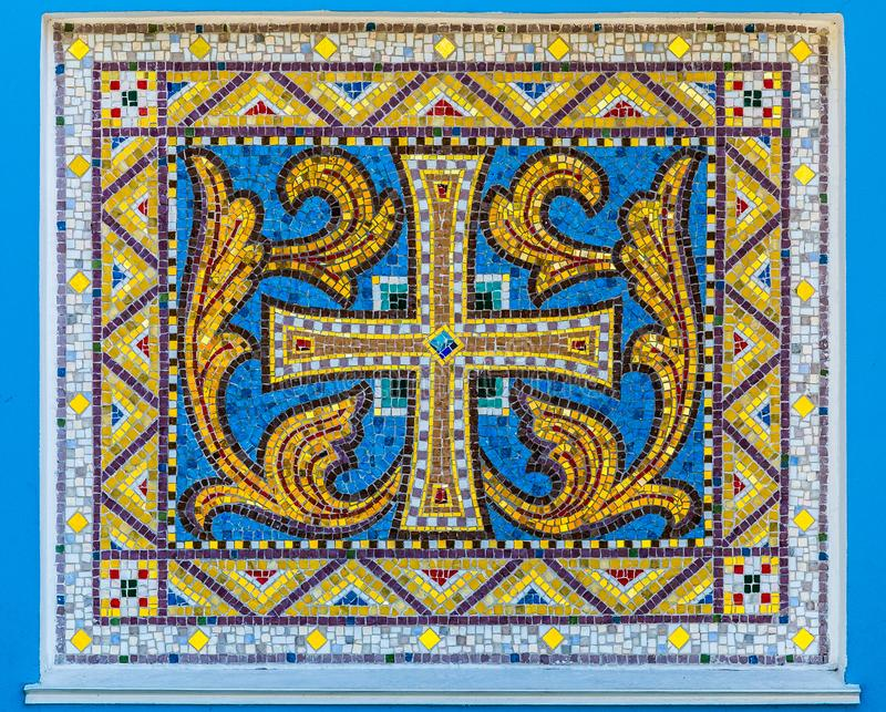 Mosaic of old christian ornament royalty free stock photos