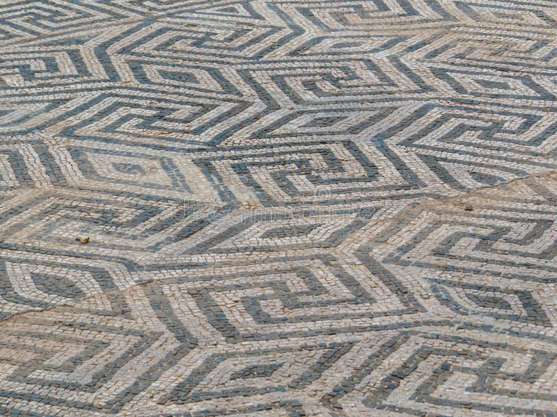 Mosaic, Ostia Antica, Rome, Italy stock images