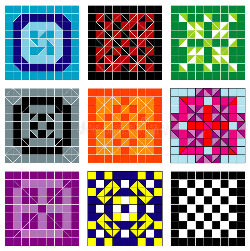 Download Mosaic pattern stock vector. Image of retro, background - 11065593