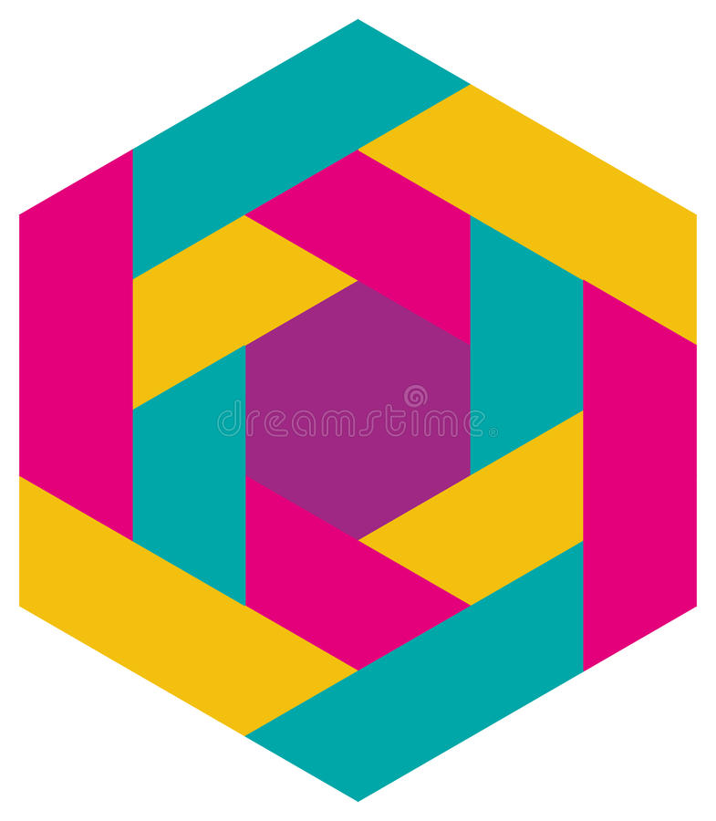 Mosaic Pattern. A colorful geometric mosaic pattern icon royalty free illustration