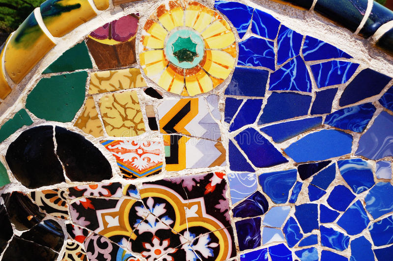 Download Mosaic Patterns, Parc Guell, Barcelona Stock Photo - Image: 15784108
