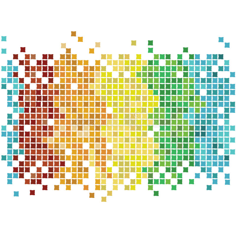 Mosaic rainbow vector illustration
