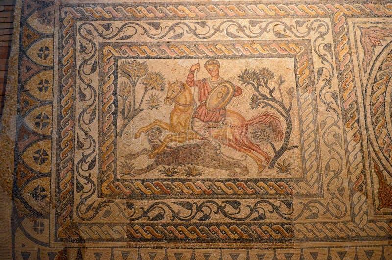 Mosaic at the Roman Museum, Museo Nacional de Arte Romano Merida, Spain royalty free stock photos