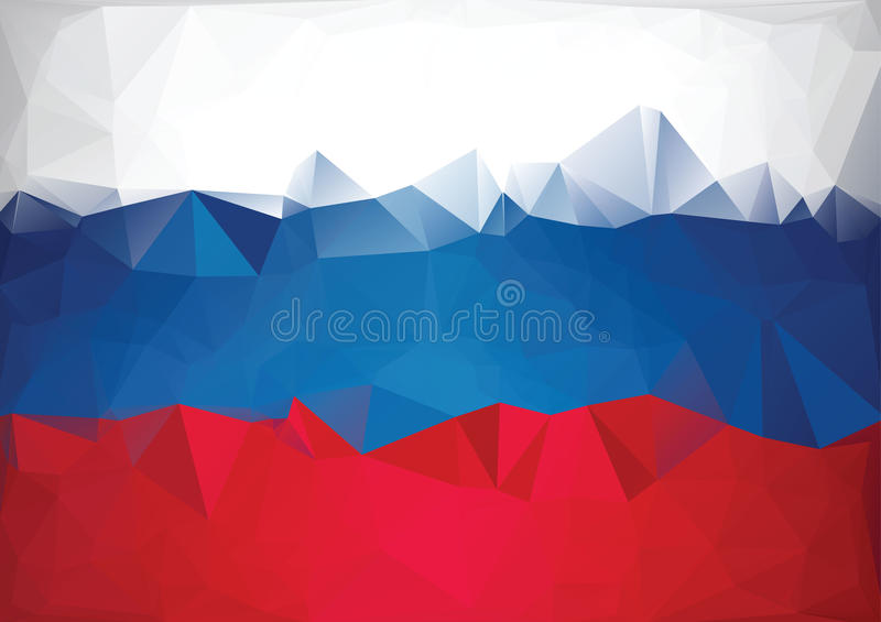 Mosaic russian flag. Low poly style stock images
