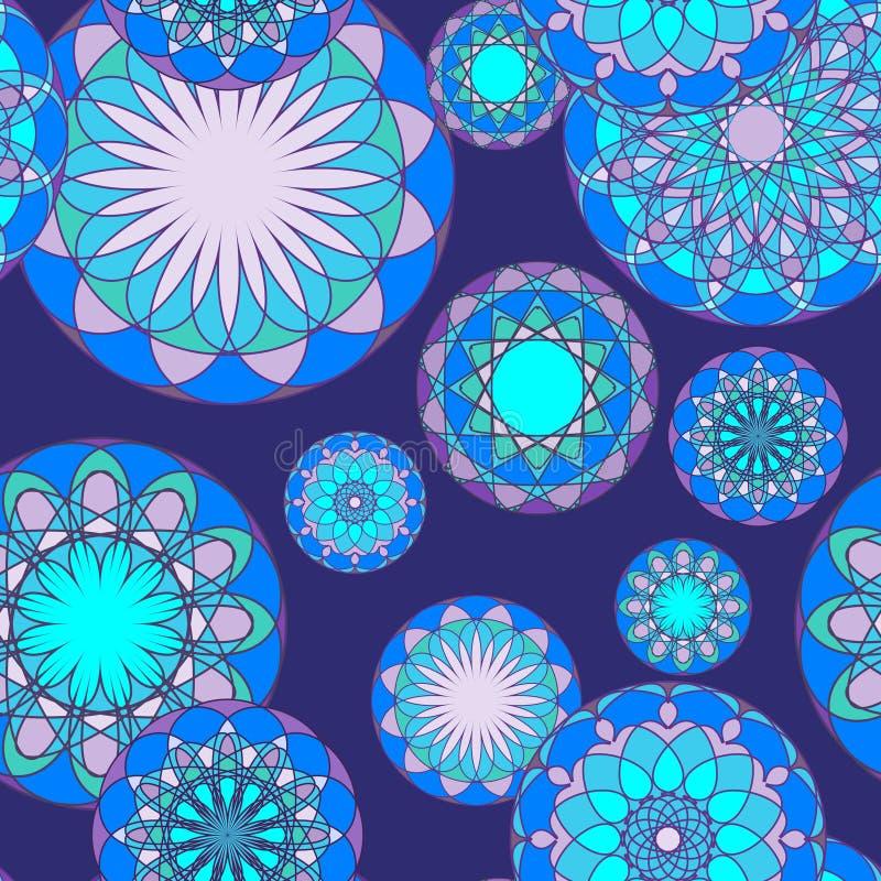 Mosaic seamless pattern stock image