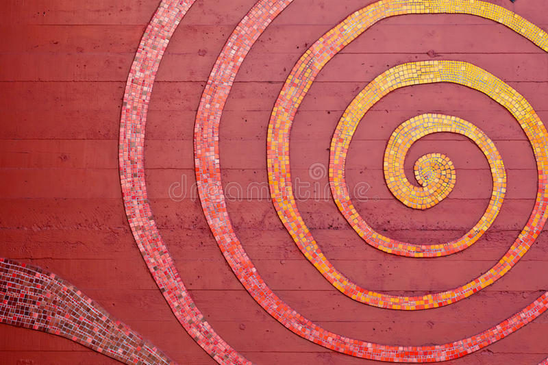 Mosaic Spiral On The Wall Stock Photography