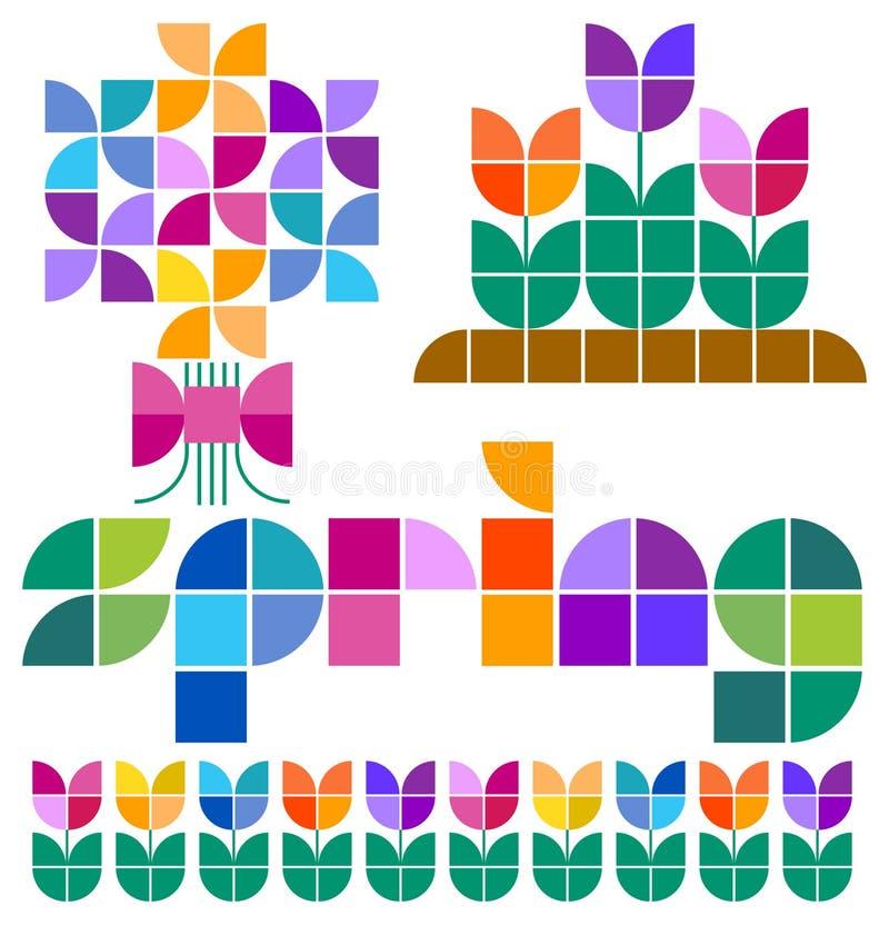 Free Mosaic Spring Set/eps Royalty Free Stock Photos - 39794878