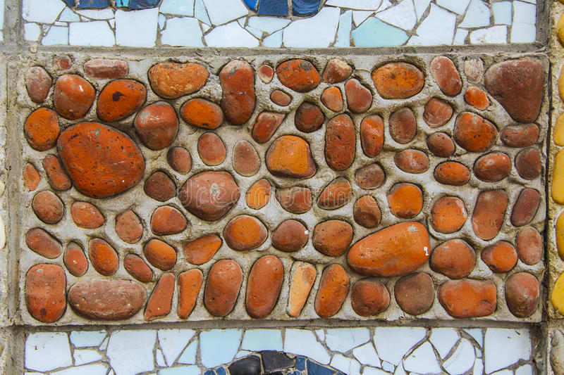 Mosaic. Square background filled with colorful mosaic stock photo