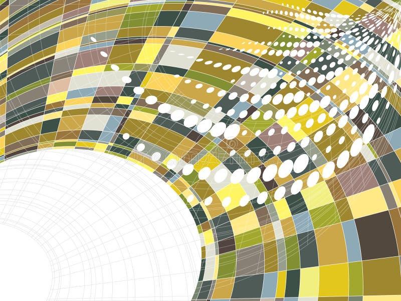 Mosaic squares warp dots royalty free illustration