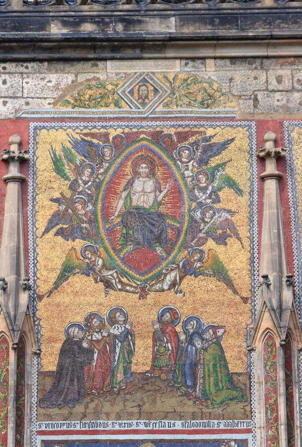 Download Mosaic On St Vitus's Cathedral Royalty Free Stock Images - Image: 3037169