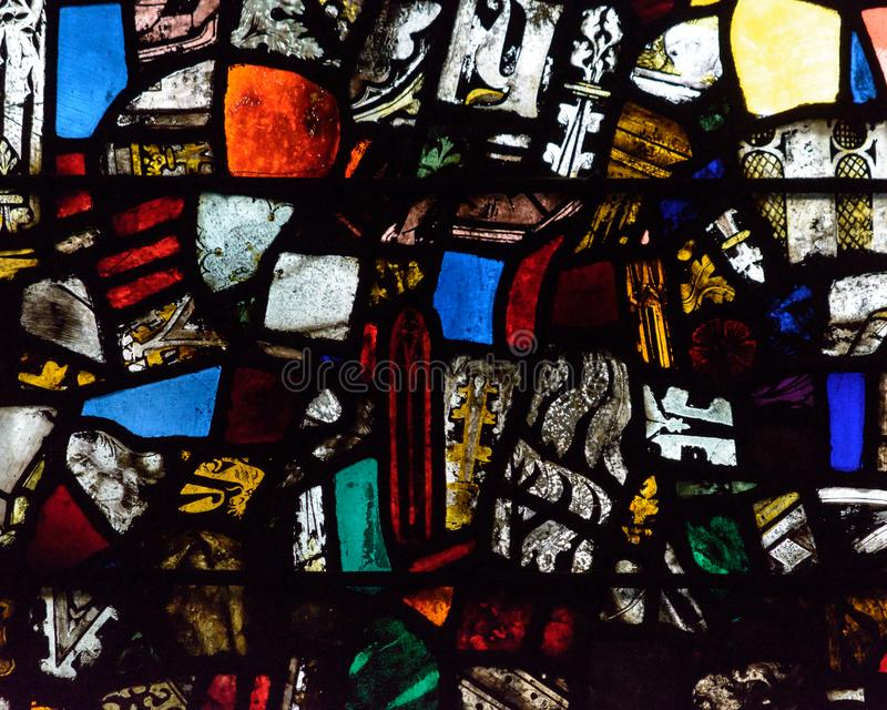 Mosaic Stained Glass A. Medieval Random Pieces of Glass royalty free stock images