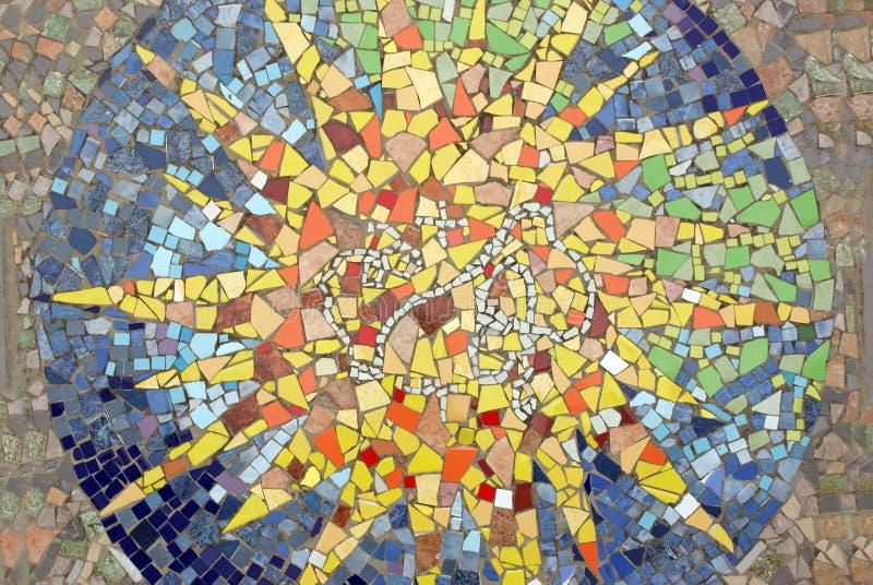 Mosaic star stock photos