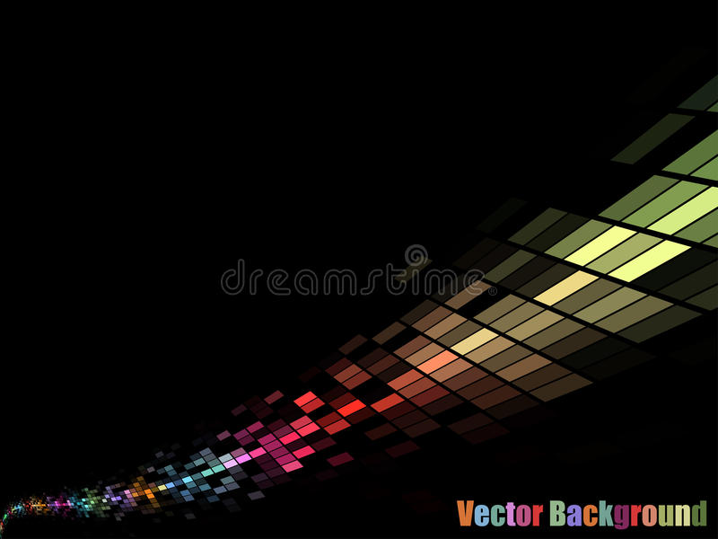 Mosaic stream. Colorful mosaic stream background with black copy space stock illustration