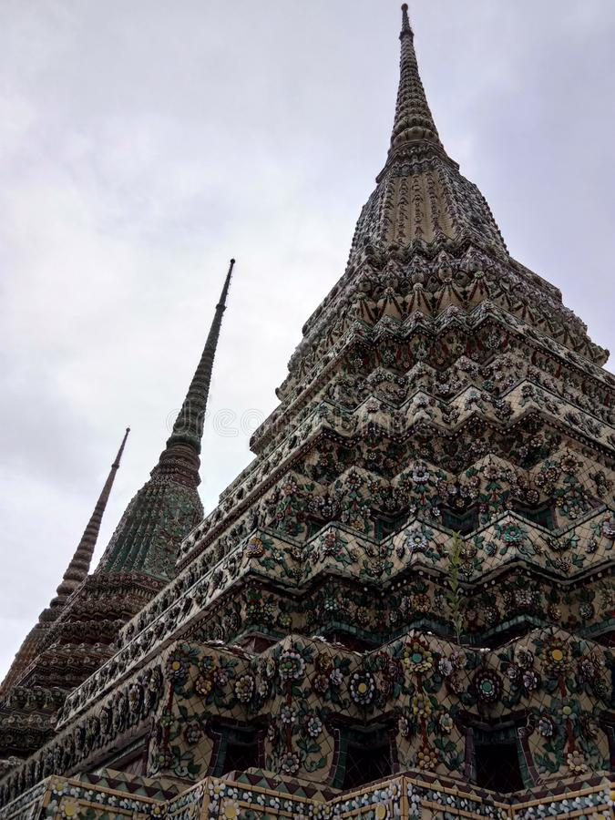 Mosaic stupa at Wat Pho, temple in Thailand royalty free stock images