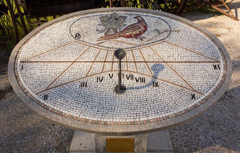 mosaic sundial in aiello del friuli stock image image of light friuli 35702631. Black Bedroom Furniture Sets. Home Design Ideas