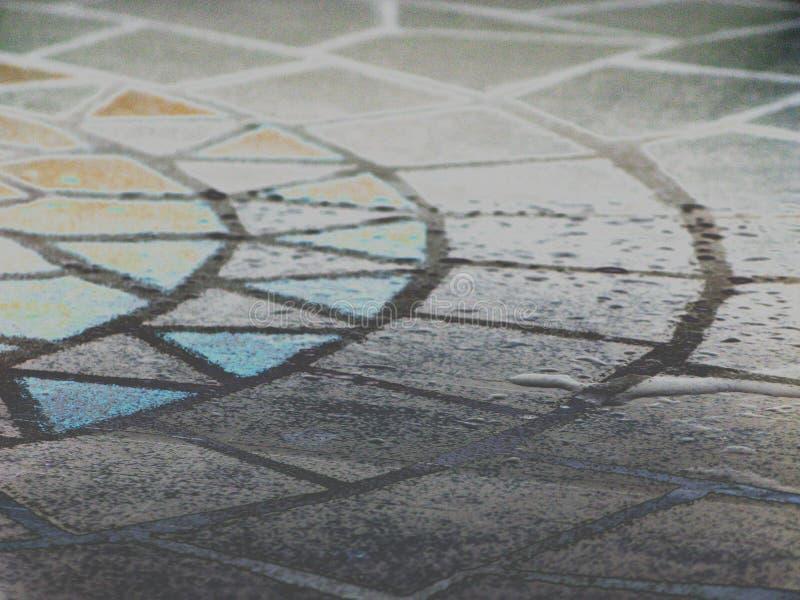 Mosaic table royalty free stock image