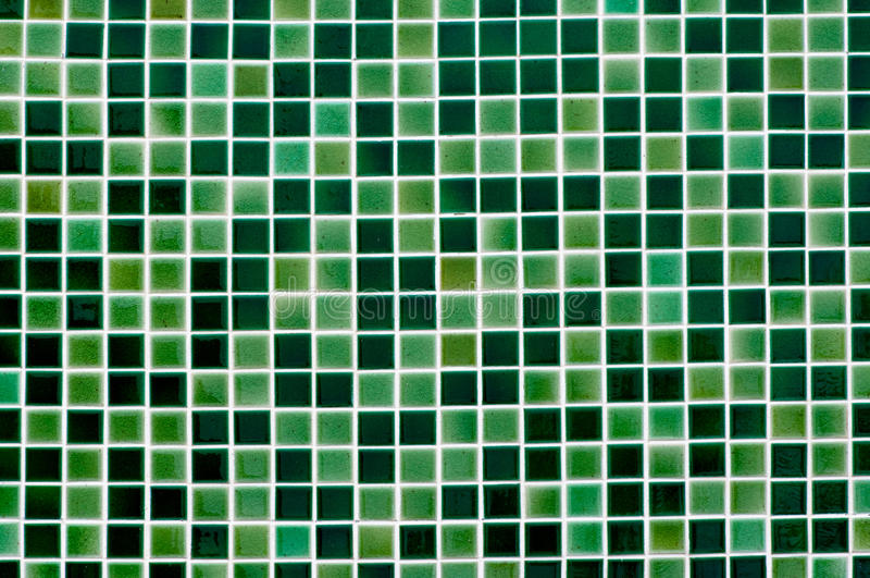 Mosaic tile. The green mosaic tile background royalty free stock photography