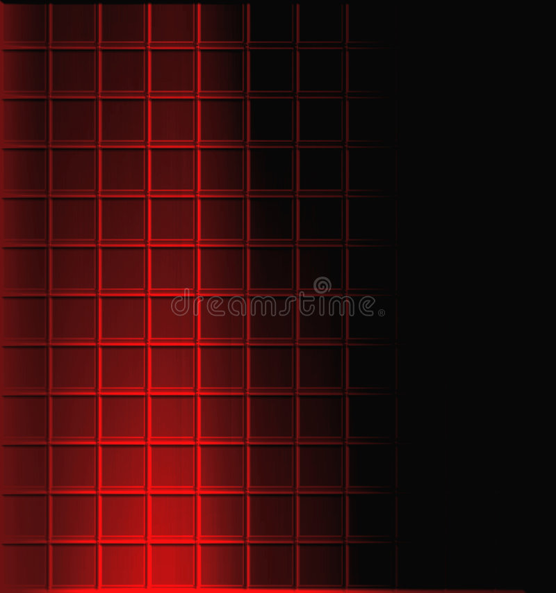 Mosaic Tile Background. Background design of red tile and black copyspace and light and shadow for good depth royalty free illustration