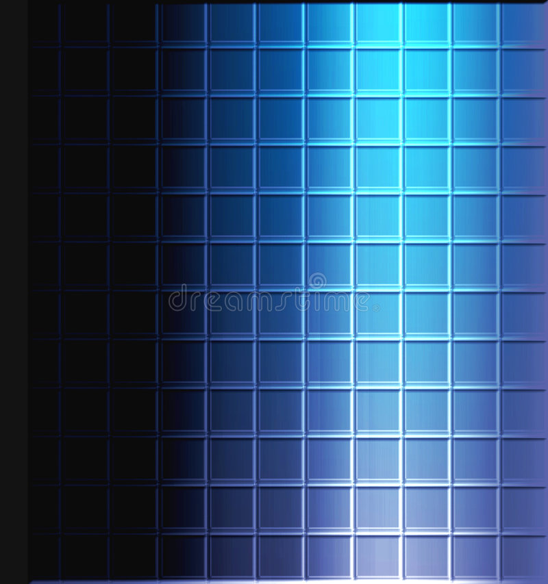 Mosaic Tile Background. Background design of blue tile and black copyspace and light and shadow for good depth stock illustration