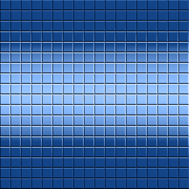 Mosaic Tile Background. Background design of blue tile and light and shadow for good depth vector illustration